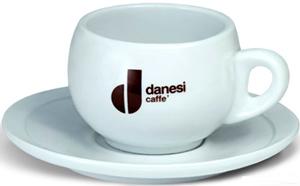 Чашка латте с блюдцем Danesi